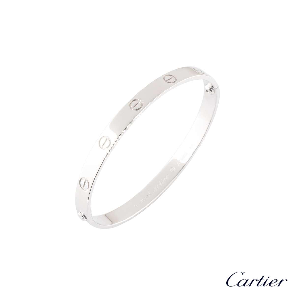 CartierWhite Gold Love Bracelet Size 19B6035419